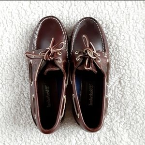 Timberland Brown Leather Loafer Flat Shoes Size 7